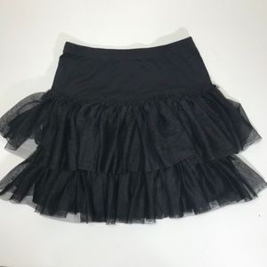 Hanna Andersson Black Tulle Skirt Size 130